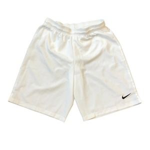 Nike Dri Fit Shorts L White Loose Drawstring Lined